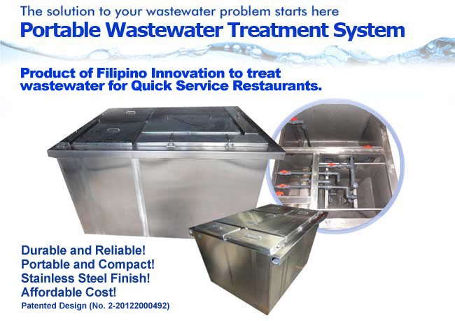 portable wastewater treatment system